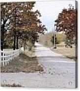 Kansan Gravel Road Acrylic Print