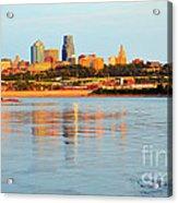 Kansas City Downtown From Kaw Point Acrylic Print