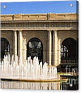 Kansas City Fountain At Union Station Acrylic Print by Andee Design