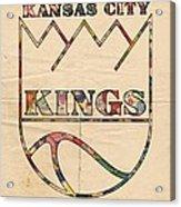 Kansas City Kings Retro Poster Acrylic Print