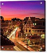 Kansas City Plaza Christmas Lights Skyline Acrylic Print