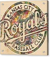 Kansas City Royals Logo Vintage Acrylic Print