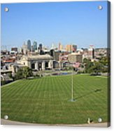 Kansas City Skyline And Park Acrylic Print