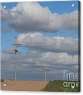 Kansas Country Road With Sky Acrylic Print
