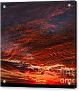 Kansas Prairie Sunset Acrylic Print