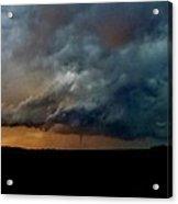 Kansas Tornado At Sunset Acrylic Print