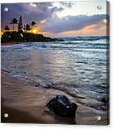 Kapa'a Kauai Sunrise Acrylic Print
