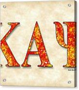 Kappa Alpha Psi - Parchment Acrylic Print