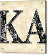 Kappa Alpha Society - Parchment Acrylic Print