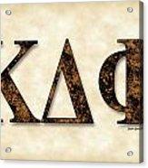 Kappa Delta Phi - Parchment Acrylic Print