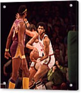 Kareem Abdul Jabbar Gets Rebound Acrylic Print by Retro Images Archive