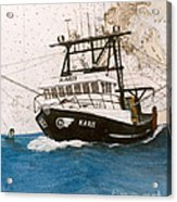 Karis Trawl Fishing Boat Nautical Chart Art Acrylic Print