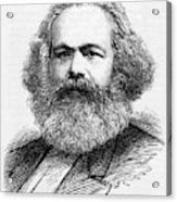 Karl Marx  German Radical Political Acrylic Print