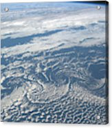Karman Vortex Cloud Streets From Space Acrylic Print