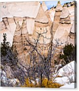 Kasha Katuwe Tent Rocks In The Winter Snow Acrylic Print