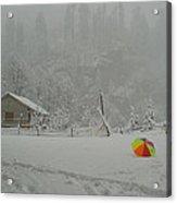 Kashmir In Winter Acrylic Print
