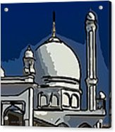 Kashmir Mosque 2 Acrylic Print by Steve Harrington