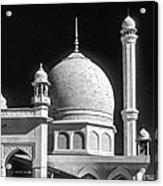 Kashmir Mosque Monochrome Acrylic Print by Steve Harrington