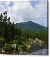 Katahdin From Sandy Stream Pond Acrylic Print