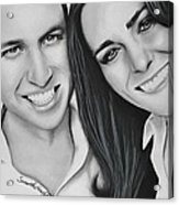 Kate And William Acrylic Print by Samantha Howell