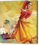 Kathak Dance Acrylic Print