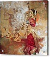 Kathak Dancer 8 Acrylic Print