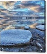 Kathleen Lake And Mount Worthington Acrylic Print
