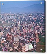 Kathmandu From The Airplane-nepal  Acrylic Print