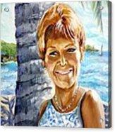 Kathy Smiles Acrylic Print