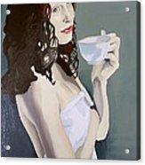 Katie - Morning Cup Of Tea Acrylic Print