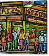 Katz's Deli Acrylic Print