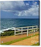 Kauai Beach - Morning Storm Acrylic Print