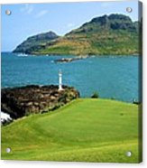 Hokuala - Ocean Course - Hole 16 Acrylic Print
