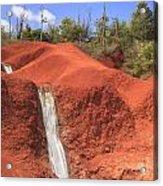 Kauai Red Dirt Waterfall Acrylic Print