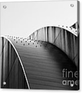 Kauffman Center Black And White Curves Photography Acrylic Print