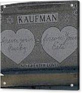 Kaufman Grave No Greater Love Acrylic Print