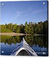 Kayak On Calm Lake Acrylic Print