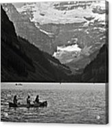 Kayak On Lake Louise Acrylic Print