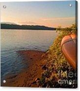 Kayak On The Hudson Acrylic Print