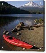 Kayak On Trillium Lake Acrylic Print