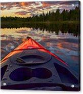 Kayak Sunset Acrylic Print