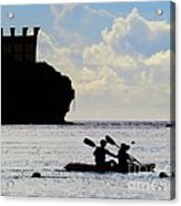 Kayaking Across The Bay Acrylic Print