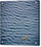 Kayaking Alone Acrylic Print