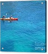 Kayaking At Calanque De Port Miou In Cassis France Acrylic Print