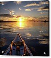 Kayaking At Sunset On Bahia Concepcion Acrylic Print