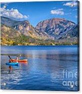 Kayaking Grand Lake Acrylic Print