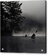 Kayaking In The Fog Acrylic Print