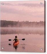 Kayaking On Starrett Lake At Sunrise Acrylic Print