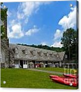 Kayaks At Boat House Acrylic Print by Amy Cicconi