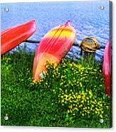 Kayaks At Lake Galena Acrylic Print